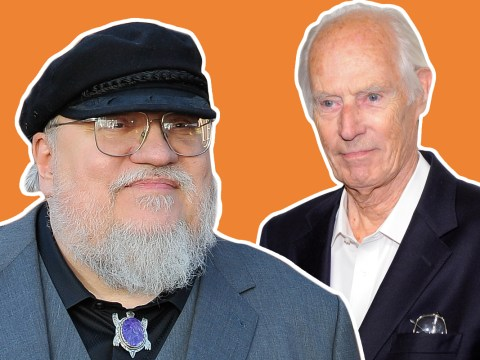 George RR Martin assures fans he's not dead, while paying tribute to George Martin