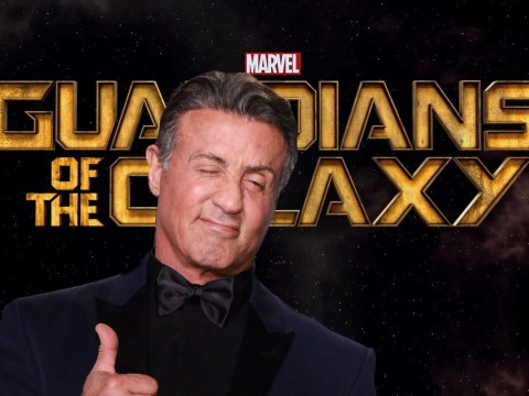 Does this picture mean Sylvester Stallone has joined the cast of Guardians Of The Galaxy Vol. 2?