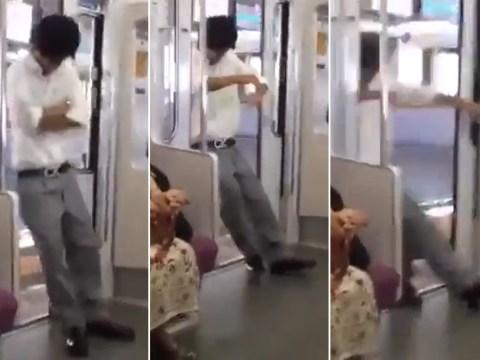 Commuter falls through subway doors after nodding off