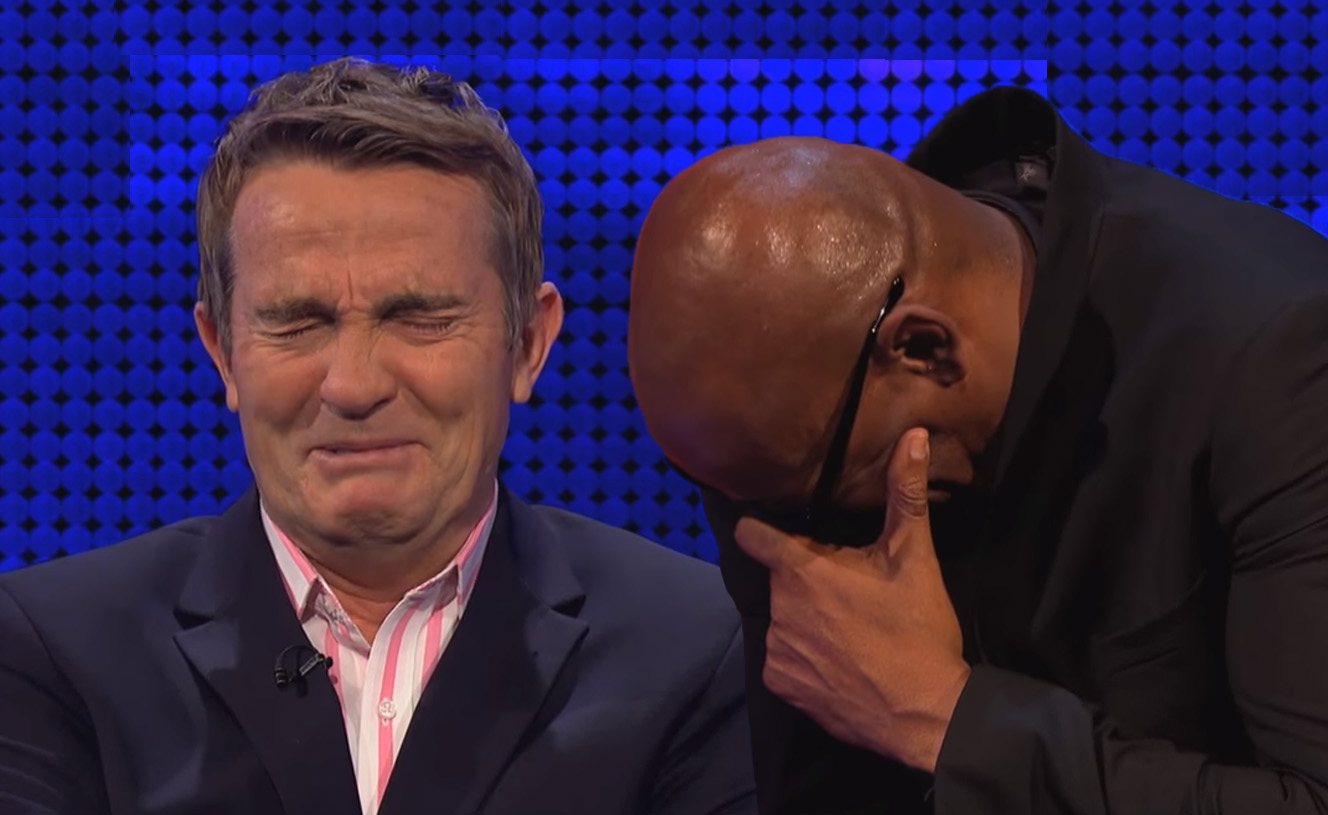 The Chase: Bradley Walsh and Shaun Wallace lose it in the funniest outtake since Fanny Schmelar