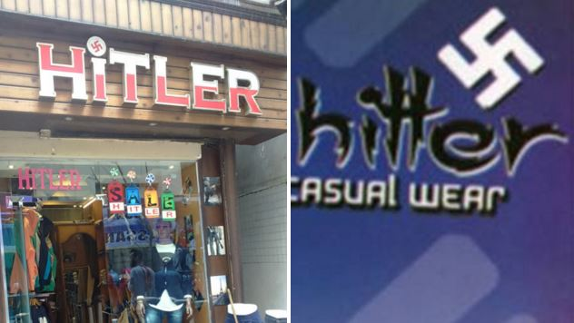 There's a clothes shop 'named after Adolf Hitler' with swastikas