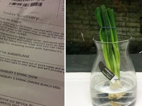 Woman orders flowers from Sainsbury's… receives spring onions instead