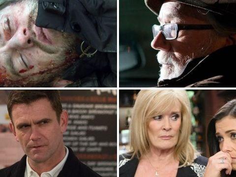 12 soap spoiler pictures: EastEnders stalker reveal, Emmerdale violence, Hollyoaks kidnap, Coronation Street split