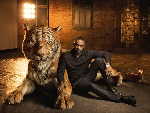 The Jungle Book stars have been snapped next to their animals