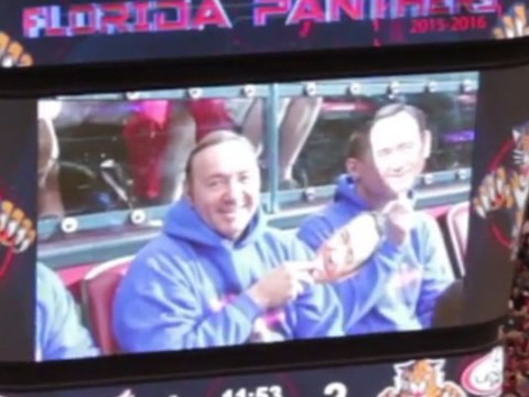This is why Kevin Spacey went to a hockey match in a Kevin Spacey mask and hoodie