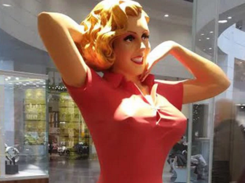You will not be able to guess what this mannequin is being used to sell