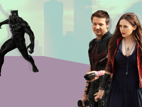 Scarlet Witch and Hawkeye think Black Panther's outfit sucks