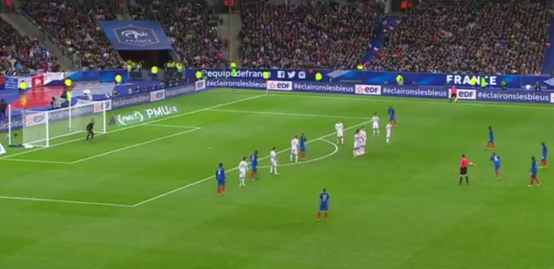 West Ham's Dimitri Payet scores incredible free-kick with first touch for France versus Russia