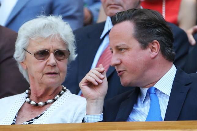 David Cameron with his mum Mary (Picture: REX/Shutterstock)
