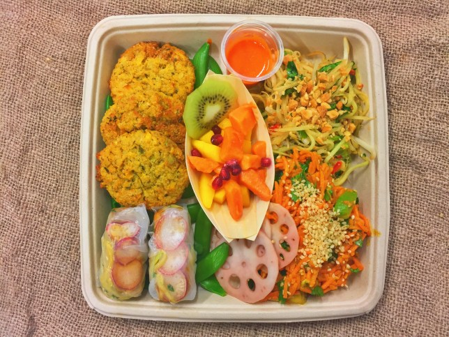 The Thai Mojo Box - around 700 calories, packed with protein, mostly raw, all-vegan and around £12 (PIcture: Mojo Box)