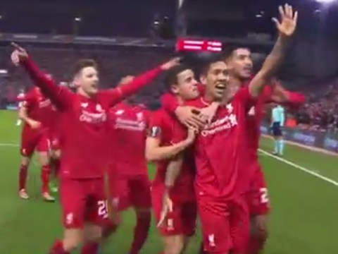 Roberto Firmino does 'five times' gesture to celebrate Liverpool goal v Manchester United