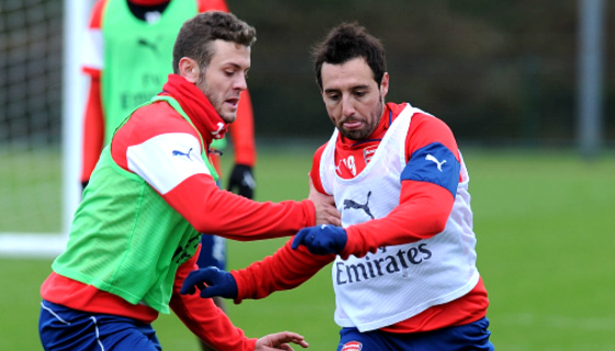 Jack Wilshere and Santi Cazorla are out for a while (Picture: Getty Images)
