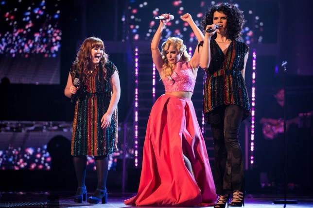 Programme Name: The Voice - TX: 02/04/2016 - Episode: The Voice - Episode 13 (No. 13) - Picture Shows: THE VOICE - SEMI FINAL TEAM PALOMA Heather Cameron-Hayes, Paloma Faith, Jordan Gray - (C) Wall to Wall - Photographer: Guy Levy