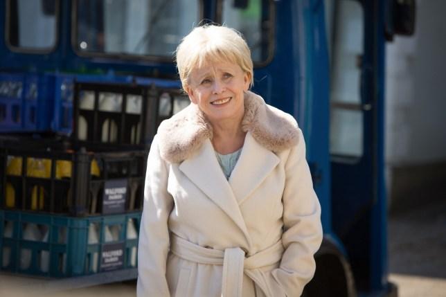 EastEnders - Peggy enjoys a trip round Albert Square. Peggy Mitchell (BARBARA WINDSOR) - (C) BBC - Photographer: Jack Barnes