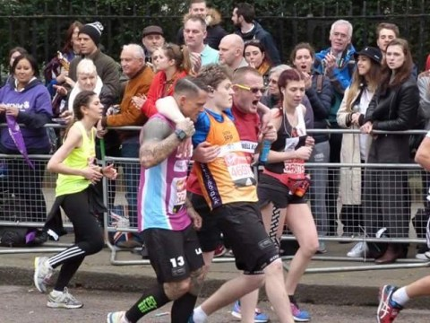 You may have missed this touching moment at the London Marathon