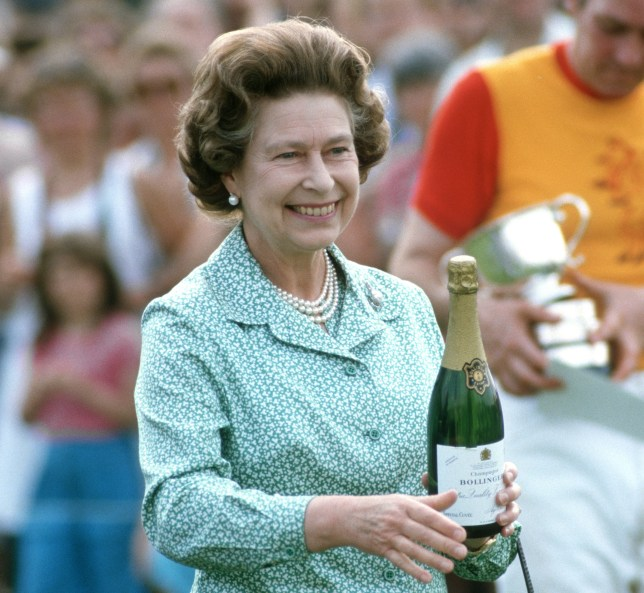 1984 - Queen Elizabeth II presents the prizes at Guards Polo Club, Windsor,