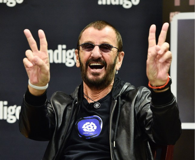 """TORONTO, ON - OCTOBER 20: Ringo Starr launches his New Book """"Photograph"""" at Indigo Manulife Centre on October 20, 2015 in Toronto, Canada. (Photo by George Pimentel/WireImage)"""