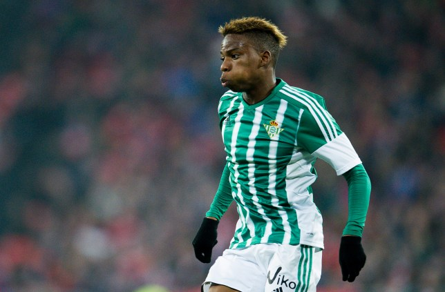BILBAO, SPAIN - MARCH 13: Charly Musonda of Real Betis Balompie reacts during the La Liga match between Athletic Club Bilbao and Real Betis Balompie at San Mames Stadium on March 13, 2016 in Bilbao, Spain. (Photo by Juan Manuel Serrano Arce/Getty Images)