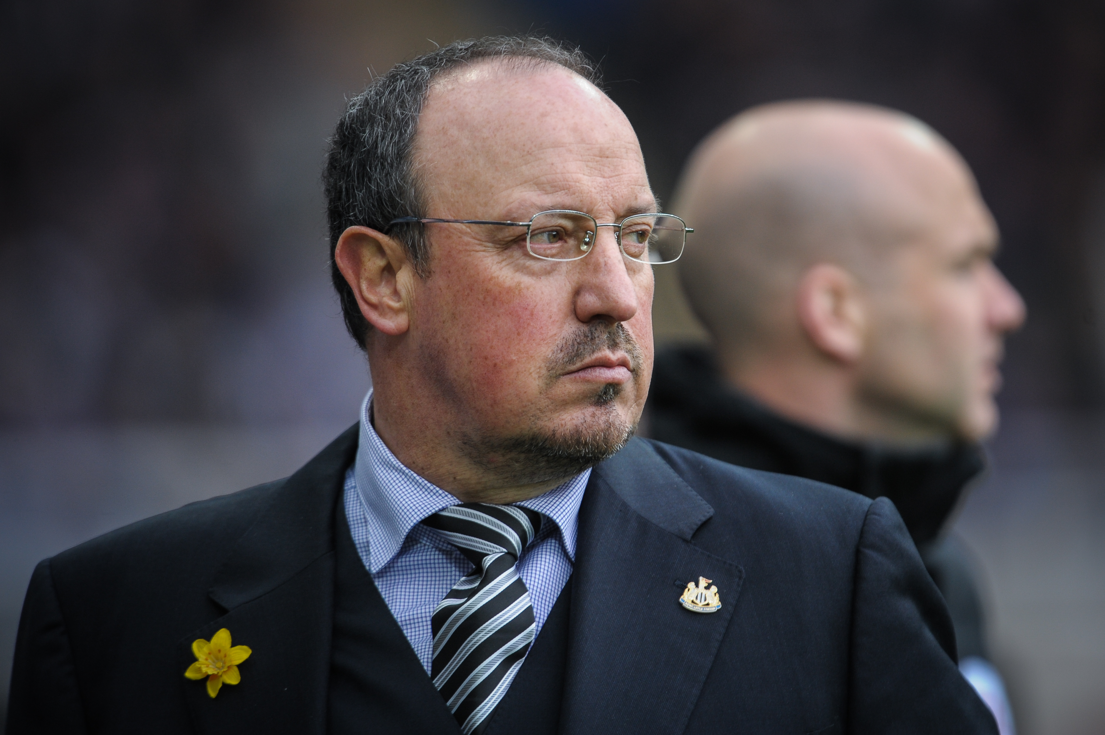 NEWCASTLE UPON TYNE, ENGLAND - MARCH 20: Newcastle's Manager Rafael Benitez during the Premier League match between Newcastle United and Sunderland at St.James' Park, on March 20, 2016, in Newcastle upon Tyne, England. (Photo by Serena Taylor/Newcastle United via Getty Images)