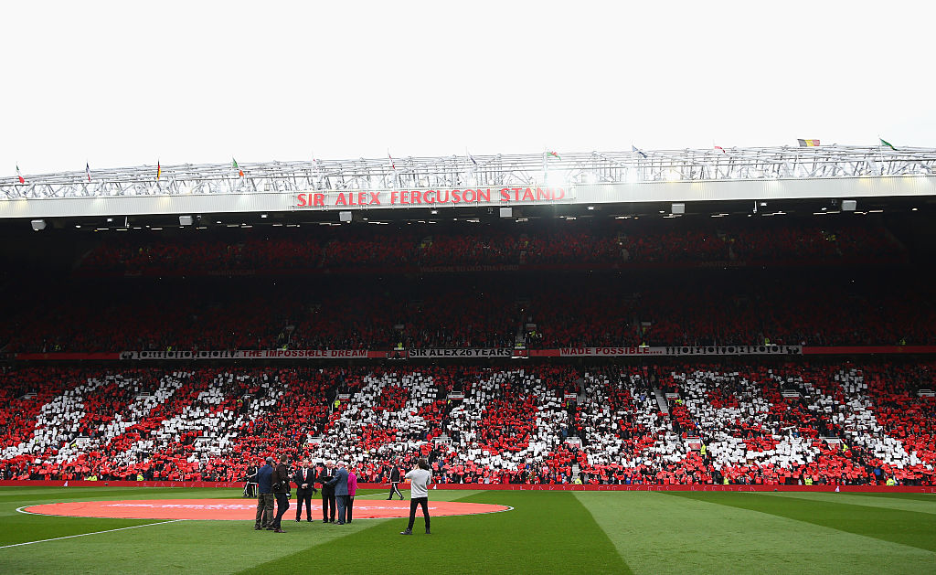 Manchester United fans pay tribute to Sir Bobby Charlton with class mosaic as club legend has stand renamed in his honour