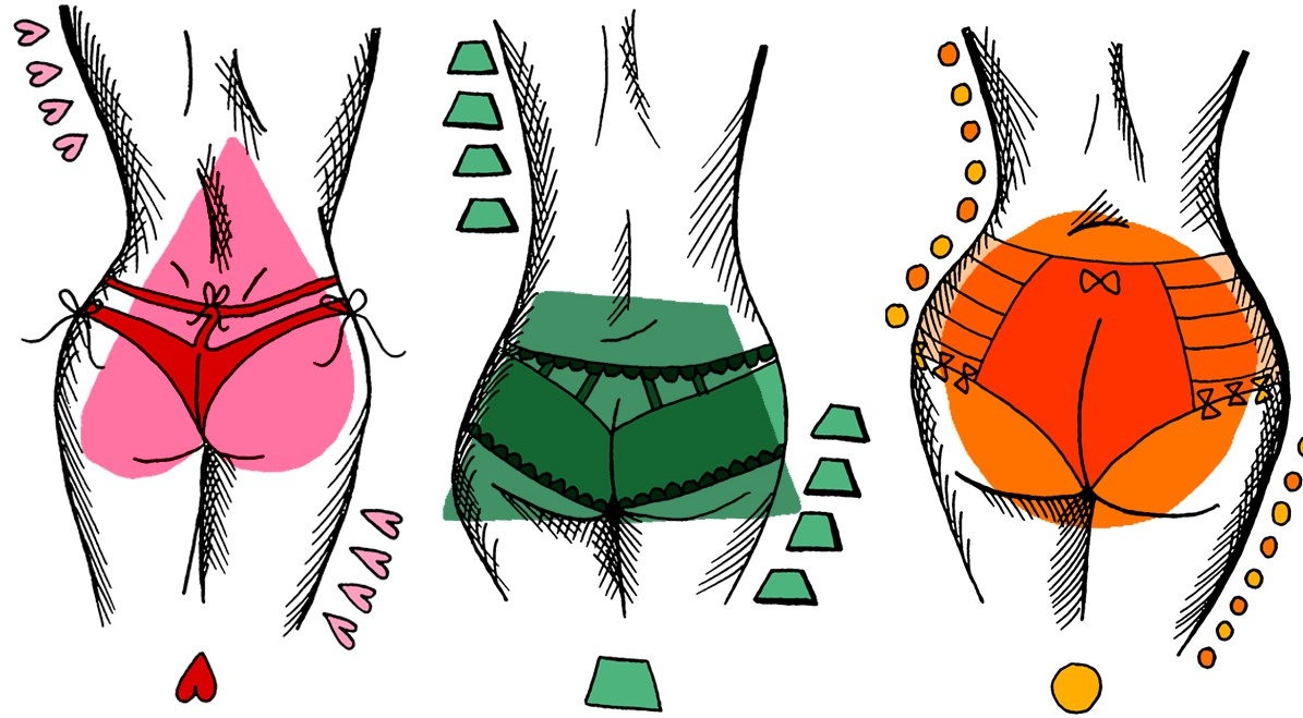There are 5 different butt shapes in the world - which are you?