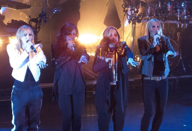 All Saints performing at Koko in London Pictured: Nicole Appleton, Shaznay Lewis, Melanie Blatt and Natalie Appleton Ref: SPL1255002 040416 Picture by: Splash News Splash News and Pictures Los Angeles: 310-821-2666 New York: 212-619-2666 London: 870-934-2666 photodesk@splashnews.com