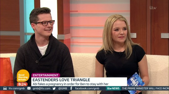 Lorna Fitzgerald and Harry Reid talks about their current 'EastEnders' storyines on 'Good Morning Britain'. Broadcast on ITV1HD Featuring: Lorna Fitzgerald, Harry Reid When: 05 Apr 2016 Credit: Supplied by WENN **WENN does not claim any ownership including but not limited to Copyright, License in attached material. Fees charged by WENN are for WENN's services only, do not, nor are they intended to, convey to the user any ownership of Copyright, License in material. By publishing this material you expressly agree to indemnify, to hold WENN, its directors, shareholders, employees harmless from any loss, claims, damages, demands, expenses (including legal fees), any causes of action, allegation against WENN arising out of, connected in any way with publication of the material.**
