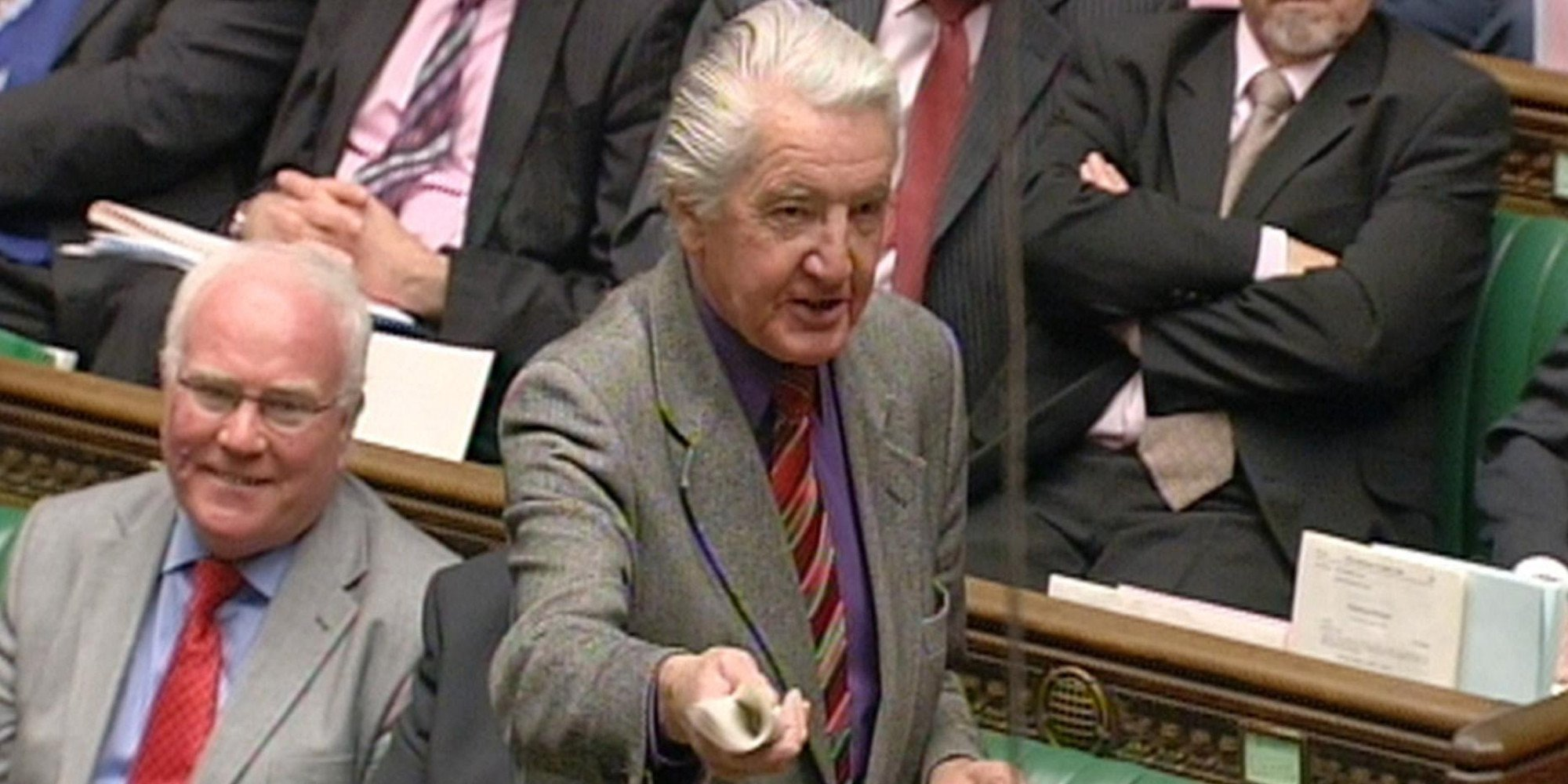 Labour Member of Parliament Dennis Skinner speaks during Prime Minister's Questions in the House of Commons, London. Credit: PA