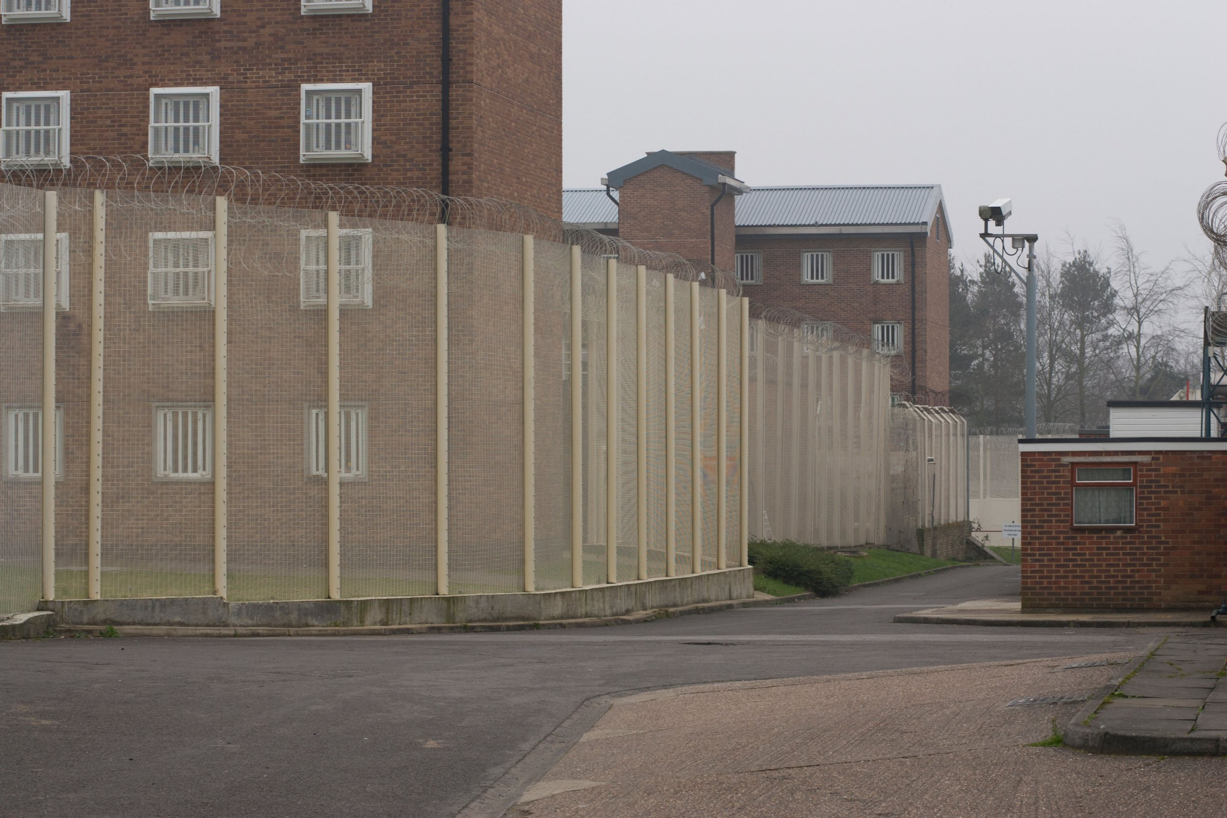 CB5NB5 Inner security Fence Coldingley Prison Surrey. Image shot 2011. Exact date unknown.