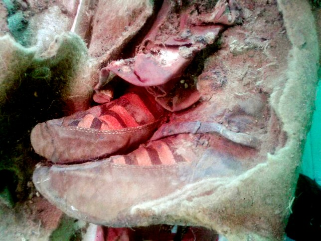 Turkik mummy in Mongolia Must Credit: Khovd Museum/ The Siberian Times queries Will Stewart 007 985 9