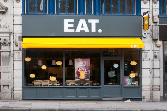 EPRE7A Branch of Eat sandwich shop in Fleet Street, London.