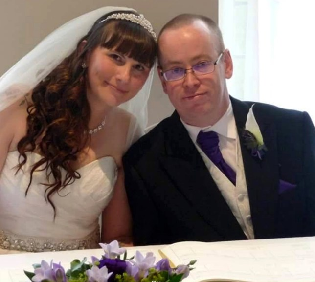 PIC FROM CATERS NEWS - (PICTURED: Paul and Chareen on their wedding day) - A couple has been left devastated after their wedding photographer spent more time taking photos of HERSELF at their reception than of the happy couple. Horrified Paul and Chareen Wheatley,42 and 37, from Leeds, say amateur photographer, Chloe Johnston, ruined their wedding day in September last year. Shes now been forced to hand over more than 600 in compensation to the couple after the angry newlyweds took her to court. After paying 500 to book Chloe as their professional snapper the couple claim she vanished and only confirmed she was attending the night before their wedding. SEE CATERS COPY.
