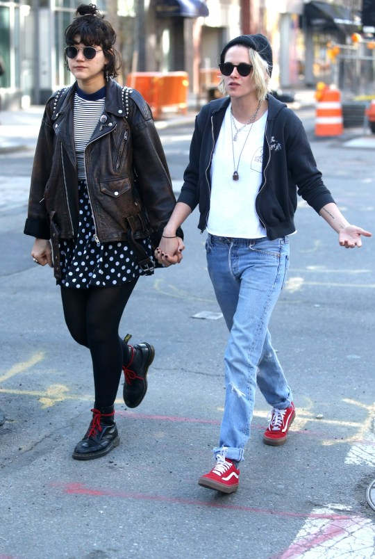 Kristen Stewart pictured with girlfriend SoKo and new blonde