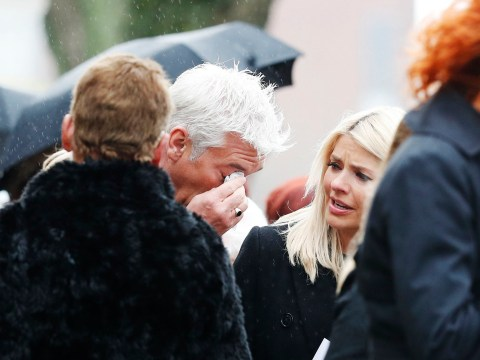 Phillip Schofield breaks down as This Morning colleagues pay their respects at Denise Robertson's funeral