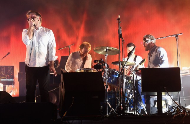 INDIO, CA - APRIL 15: Singer-songwriter James Murphy, Al Doyle, Matt Thornley, and Pat Mahoney of LCD Soundsystem perform onstage during day 1 of the 2016 Coachella Valley Music & Arts Festival Weekend 1 at the Empire Polo Club on April 15, 2016 in Indio, California. (Photo by Kevin Winter/Getty Images for Coachella)