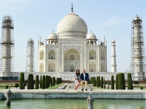 Kate Middleton wore a blue Naeem Khan dress to recreate that photo of Diana in front of the Taj Mahal