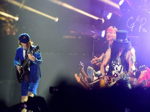 Axl Rose gets AC/DC guitarist onstage for Guns N' Roses Coachella show