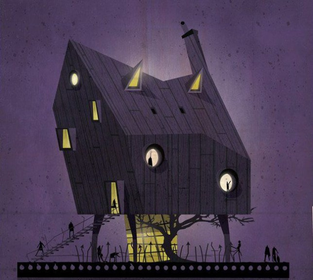 """Italian architect and illustrator Federico Babina has undertaken a very original and unusual design project. In a series of 27 illustrations titled 'Archidirector' he creates imaginary houses inspired by the personal style, characteristics and aesthetics of several renown film directors. His iconic house designs perfectly mirror each filmmakerís defined taste and personality, as according to Babina, the little details are those that mark both architectsí, as well as directorsí unique ìimprintî. To see more of Federico's amazing work visit him at the following: https://www.federicobabina.com https://www.facebook.com/federico.babina Artists press release: ARCHIDIRECTOR The directors are like the architects of cinema Loving cinema and architecture is easy to find similarities and parallels between the two disciplines. They are two worlds that sometimes observe each other from a distance and other meet and merge. The directors are like the architects of cinema. They are those that build stories that like buildings envelop the viewer and carry it in a different world. Each with their own style, language and aesthetics, think, plan design and build places and stories that host us for the duration of the movie. In these 27 illustrations I wanted to try to build 27 small stories imagining and shaping in architecture the aesthetics of 27 masters of cinema. 27 houses imagined and imaginary that like filmís frames are trying to relate and photograph a fragment of the imagination of some of the great """"architects"""" of cinema. An abstract exercise of translating a language into another. Transposition and transformation of some characteristic elements of movieís language in forms and architectural geometries. In cinema every single detail of a film helps to build a unique and characteristic language of the artistic personality of a director. The same thing happens in architecture where even the smallest detail helps to shape the imprint of an architect. The costumes light color obj"""