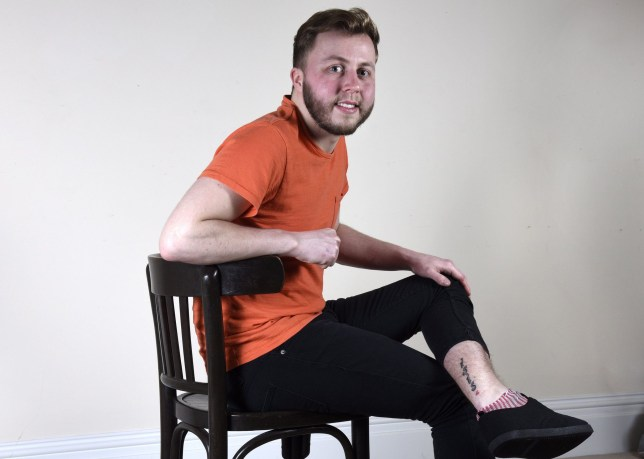 Pictured: Callum Spragg has a tattoo which says ISIS on his left leg. An assistant pub manager has more reason than most to regret getting a tattoo - because it says ISIS. Callum Spragg, 23, got the four letter inking above his left ankle to surprise a female friend, who is named Isis after the Egyptian goddess of love. The permanent marking cost £30 and was done in five minutes at a tattoo parlour above a chicken shop in Portsmouth, Hants, where Callum lives, in 2012. Thankfully she saw the funny side, but Callum admits the laugh is now on him - because the tattoo gets mistaken for a tribute to terrorist organisation Islamic State, which is also known as ISIS. SEE OUR COPY FOR DETAILS. © Simon Czapp/Solent News & Photo Agency UK +44 (0) 2380 458800