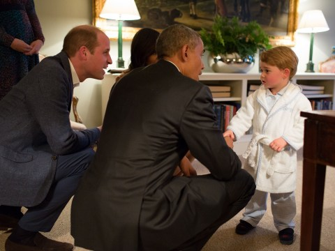 Prince George stayed up late to meet Barack Obama
