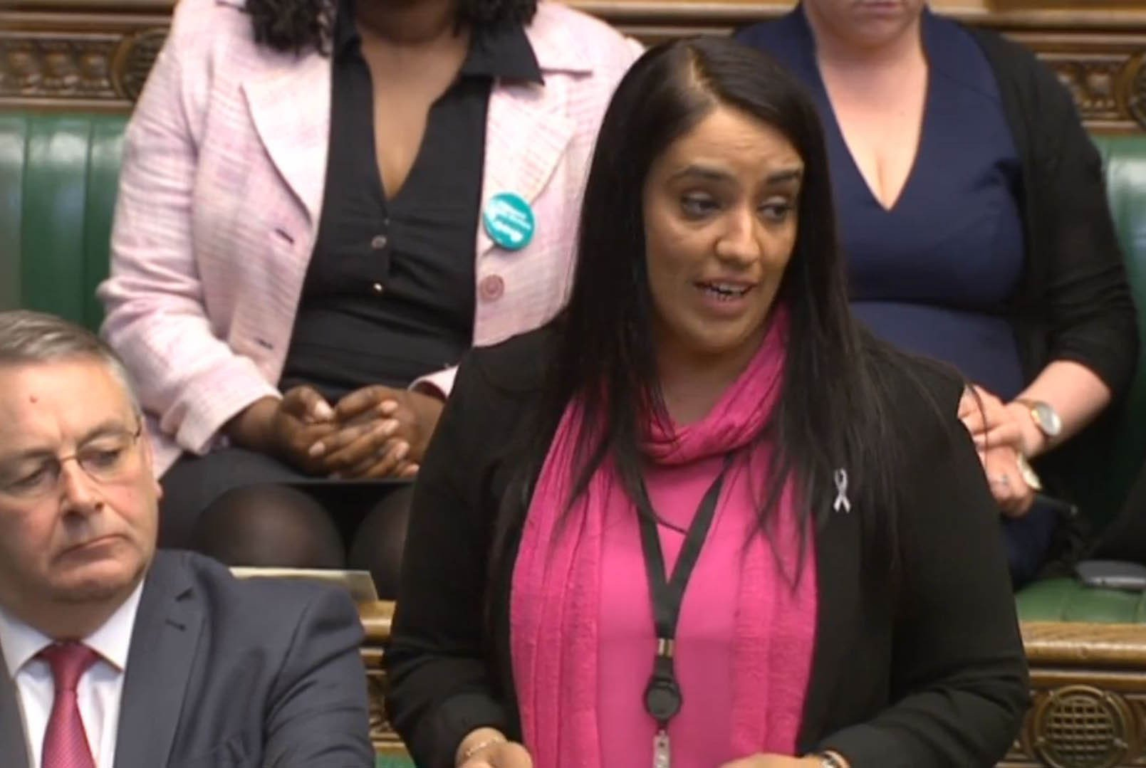 "Labour MP Naz Shah as she tells the House of Commons in London that she ""wholeheartedly apologises"" for words she used in a Facebook post about Israel. PRESS ASSOCIATION Photo. Picture date: Wednesday April 27, 2016. Speaker John Bercow said her words had been ""noted by the House"". See PA story POLITICS Shah. Photo credit should read: PA Wire"