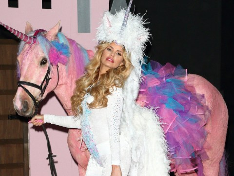 Katie Price slammed by PETA for using dyed pink horse as a 'prop' while promoting new TV show