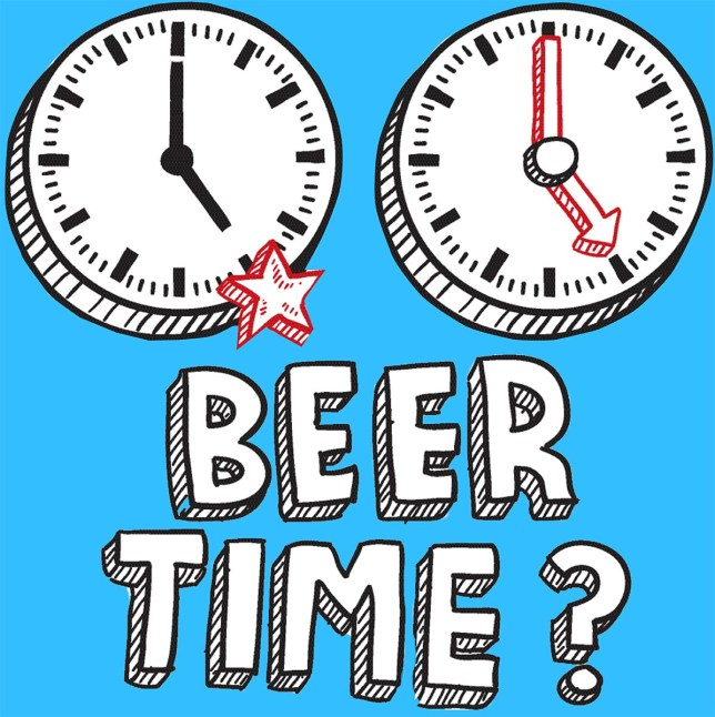 Beer time 5 PM sketch Picture: Alamy