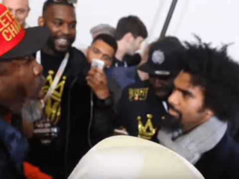 David Haye vows to 'bang out' Shannon Briggs after clash at Anthony Joshua v Charles Martin weigh-in