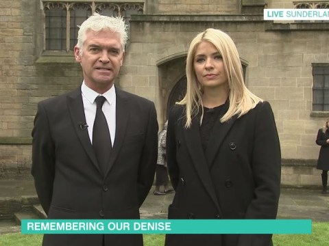 Phillip Schofield and Holly Willoughby present This Morning from Denise Robertson's funeral