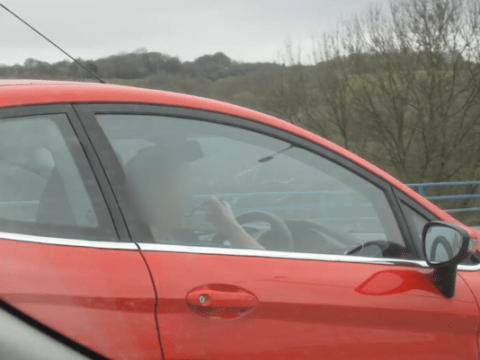 Woman seen 'driving car while eating bowl of pasta at the wheel'