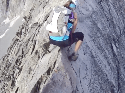 Heart-stopping video of climber on ridiculously thin mountain ridge