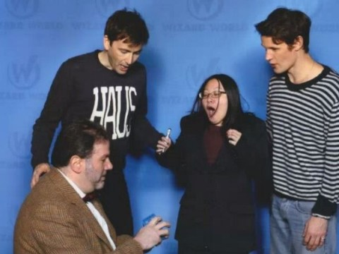 Doctor Who fan is proposed to just as she meets David Tennant and Matt Smith