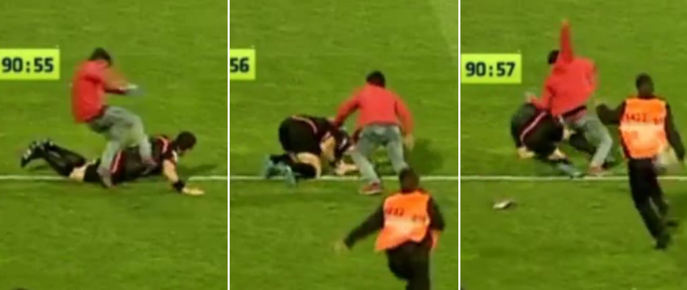 Trabzonspor fan kicks and punches fifth official during defeat to Fenerbahce