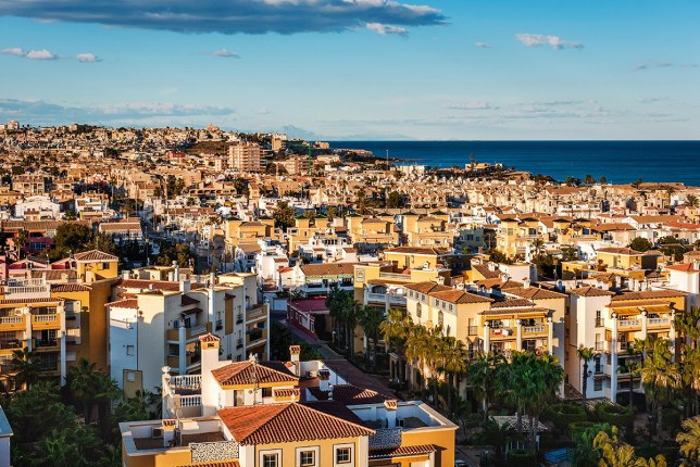 FK9R2D Cityscape of Torrevieja. Alicante province, Costa Blanca. Spain Credit: Alamy
